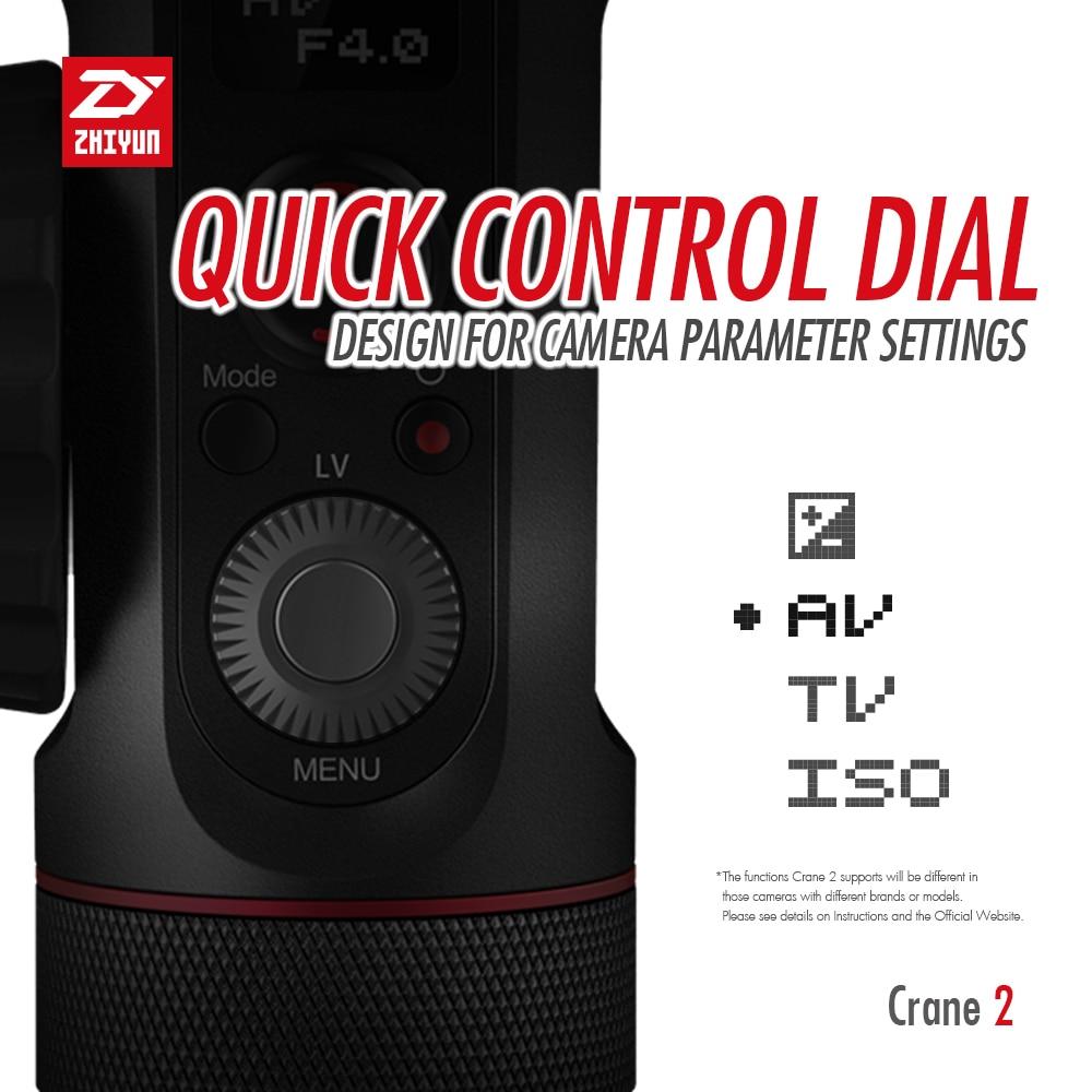 ZHIYUN Crane 2 3-Axis Handheld Gimbal Video Stabilizer with Servo Follow Focus for Canon 5D2 5D3 5D4 GH3 GH4 Sony DSLR Camera 5