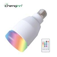 Alta qualidade E27 Lâmpada de Reprodução de Música Sem Fio Bluetooth Speaker Lâmpada LED RGB Colorido Pode Ser Escurecido 7 W Lâmpada LED Lampada de Férias luz