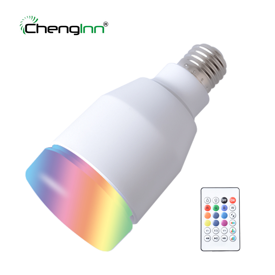 High quality E27 Wireless Bluetooth Speaker Bulb Music Playing LED Bulb RGB Colorful Dimmable 7W Bulb LED Lampada Holiday Light e27 wireless bluetooth speaker bulb with flame effect light music playing led bulb rgb colorful dimmable bulb led remote control
