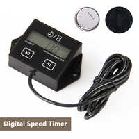 Digital Engine Tach Hour Meter Tachometer Gauge Inductive Display For Motorcycle Motor Marine Chainsaw Boat