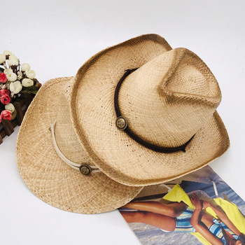 Men Women Cowboy Hat Western Straw Cowboy Casual Men Hats Cappello Sombrero Vaquero Chapeau Homme Western Cowgirl Cowboy Hat фото