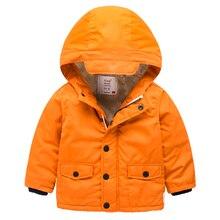 Дети с кашемир пальто 2016 зима пальто цвета дети с капюшоном молния Детские Мальчики толстые зимняя одежда