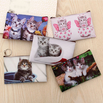 2020 New Lovely Cat Coin Purse Kitty Zipper Wallet Women Mini Wallet Purse Small Cartoon Bag Pouch Holder Change Purse image