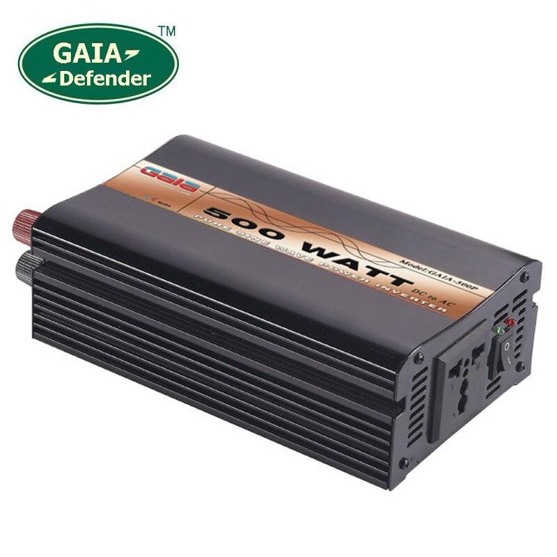 500W Pure Sine Wave Power Inverter Peak 1000w off grid DC12V 24V 48V AC 100V 110V
