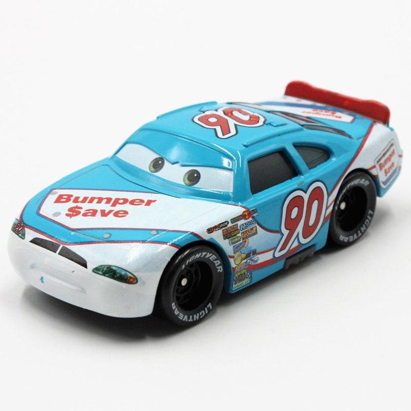 100% Original Disney Pixar Cars No.90 Bumper Racer 1:55