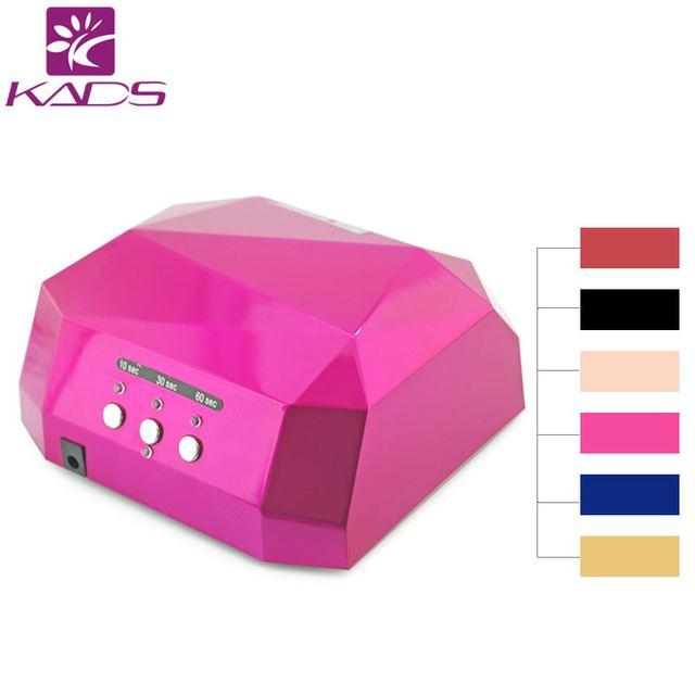 KADS 36W LED Nail Lamp for Nail Dryer Diamond Shaped Long LIife LED CCFL Curing Nail Tools UV Nail Lamp