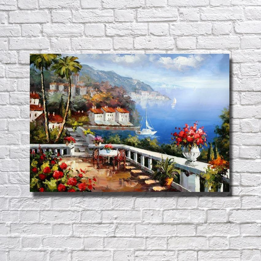Nice design beautiful nature scenery wall art paint hand painted 100% oil painting copy artwork minds painting
