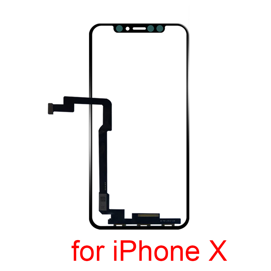 Quality LCD Display Touch Screen Front Outer Glass Panel with Flex Cable For iPhone X Replacement Parts