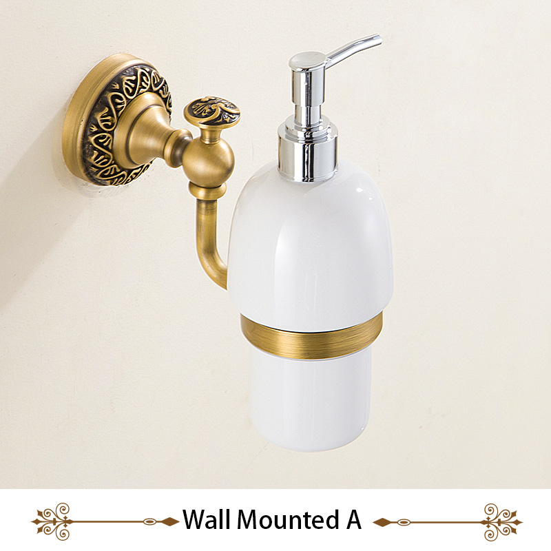 Kitchen / Bathroom Liquid Hand Soap Ceramic Dispenser Pump Bottle, for Lotion & Essential Oils, Wall Mounted or Free Standing