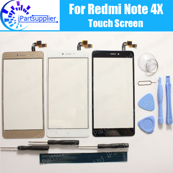 Сенсорный экран для Xiaomi Redmi Note 4X, 100% новый дигитайзер, сменная стеклянная панель для Xiaomi Redmi Note 4X