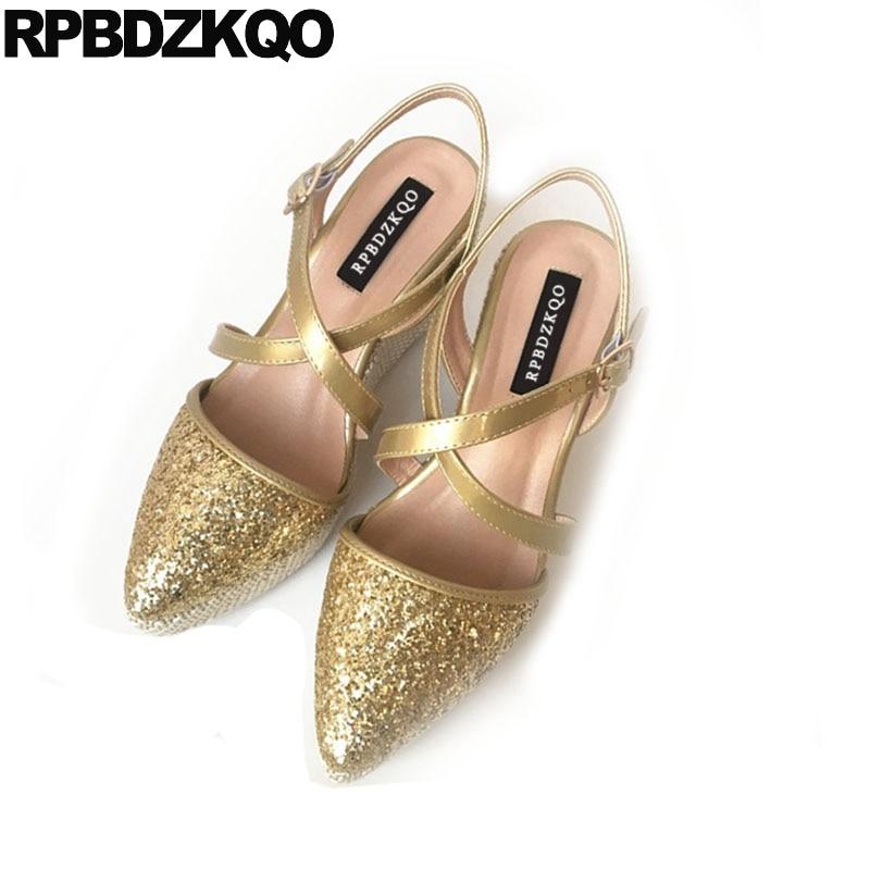 b1815b6a92c Paillette Gold Sequin Espadrilles Pumps Closed Toe Bling Women Casual Shoes  Rope Glitter Wedge Sandals High Heels Platform Strap