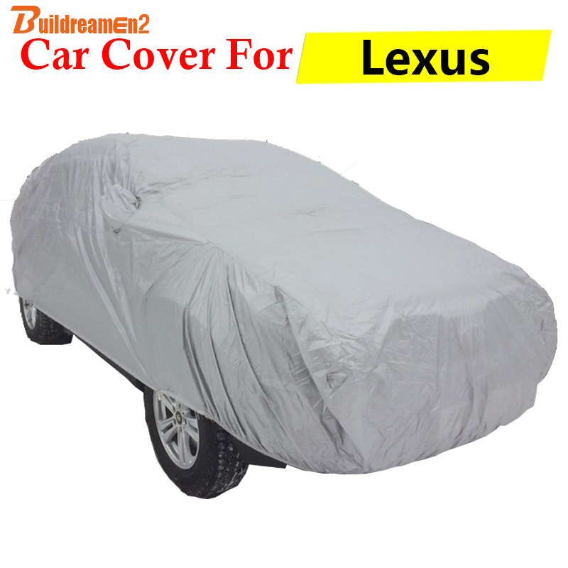 Buildreamen2 New Car Cover SUV Anti UV Outdoor Sun Shade Rain Snow Scratch Resistant Cover Dust