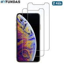 NYFundas Tempered Glass Screen Protector Film For Iphone 7 8 6 6s Plus 11 Pro Max XS MAX XR X Protection Verre Tremp accessories(China)
