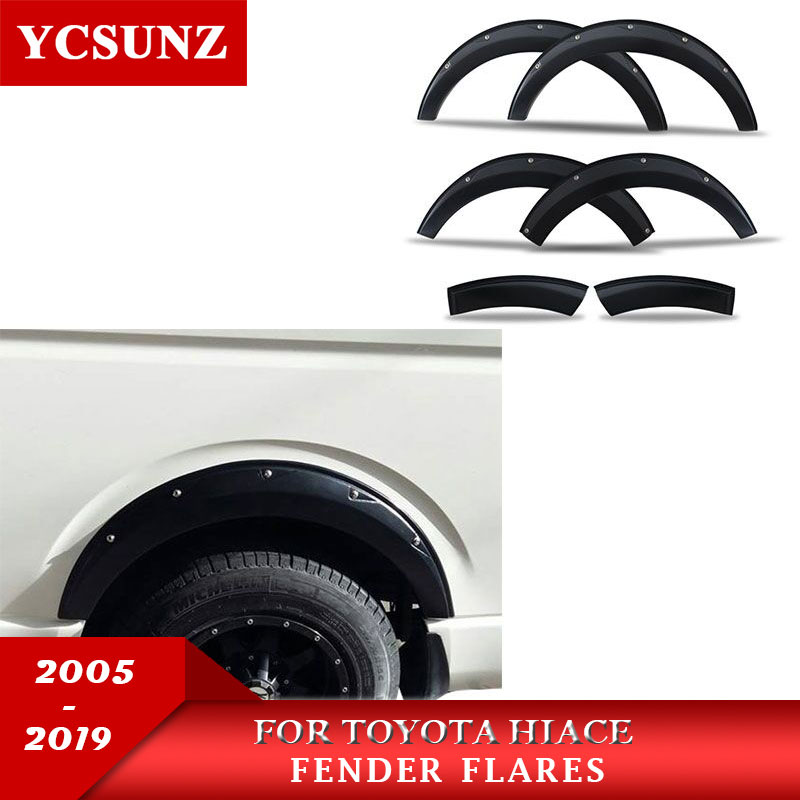 2005-2019 Fender Flares For Toyota Hiace Commuter Van Fender Accessories Mudguards For Toyota Hiace Wheel Arch Kits Flare Ycsunz