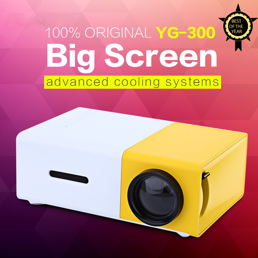 AAO YG300 YG310 LED Portable Projector 400 600LM 3 5mm Audio 320 x 240 Pixels YG