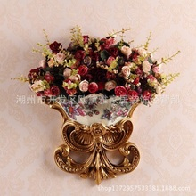 European resin Handicraft wall hanging  vase antique decoration gift flower