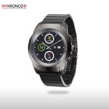 Смарт часы гибридные ZeTime Elite Regular блочный металлический ремешок цвет титан