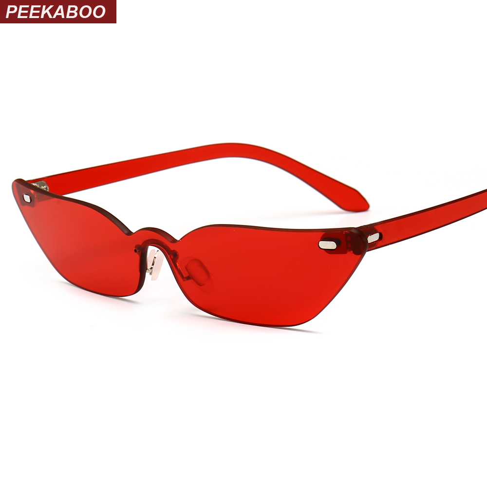 Peekaboo estrecha las gafas de sol del ojo del gato pequeño marco ...
