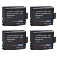 PowerTrust 4x PG1050 batería recargable de 1180mAh para la cámara SJCAM SJ4000 sj4000 SJ5000X para EKEN H9 H9R H8R H8 acción cámara