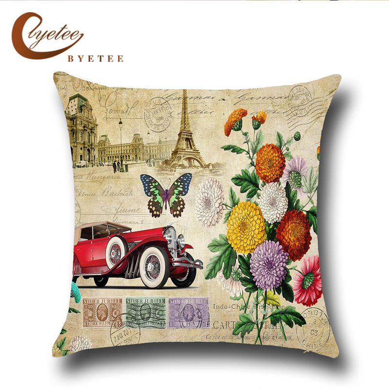 [byetee]European And American Butterfly Pillow Case Cushion Covers Cove Decorative Pillows Coussin Cushions ( No Inner)