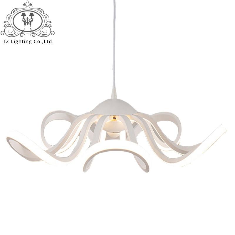 TZ Led Pendant Lights Lamparas Colgantes Lamp Suspension Luminaire Hanglamp Ceiling Acrylic Light Fixtures Hanglampen