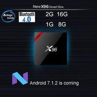 5pcs DHL X96 Mini Amlogic S905W Quad Core Android 7 1 TV Box 2GB 16GB 1G