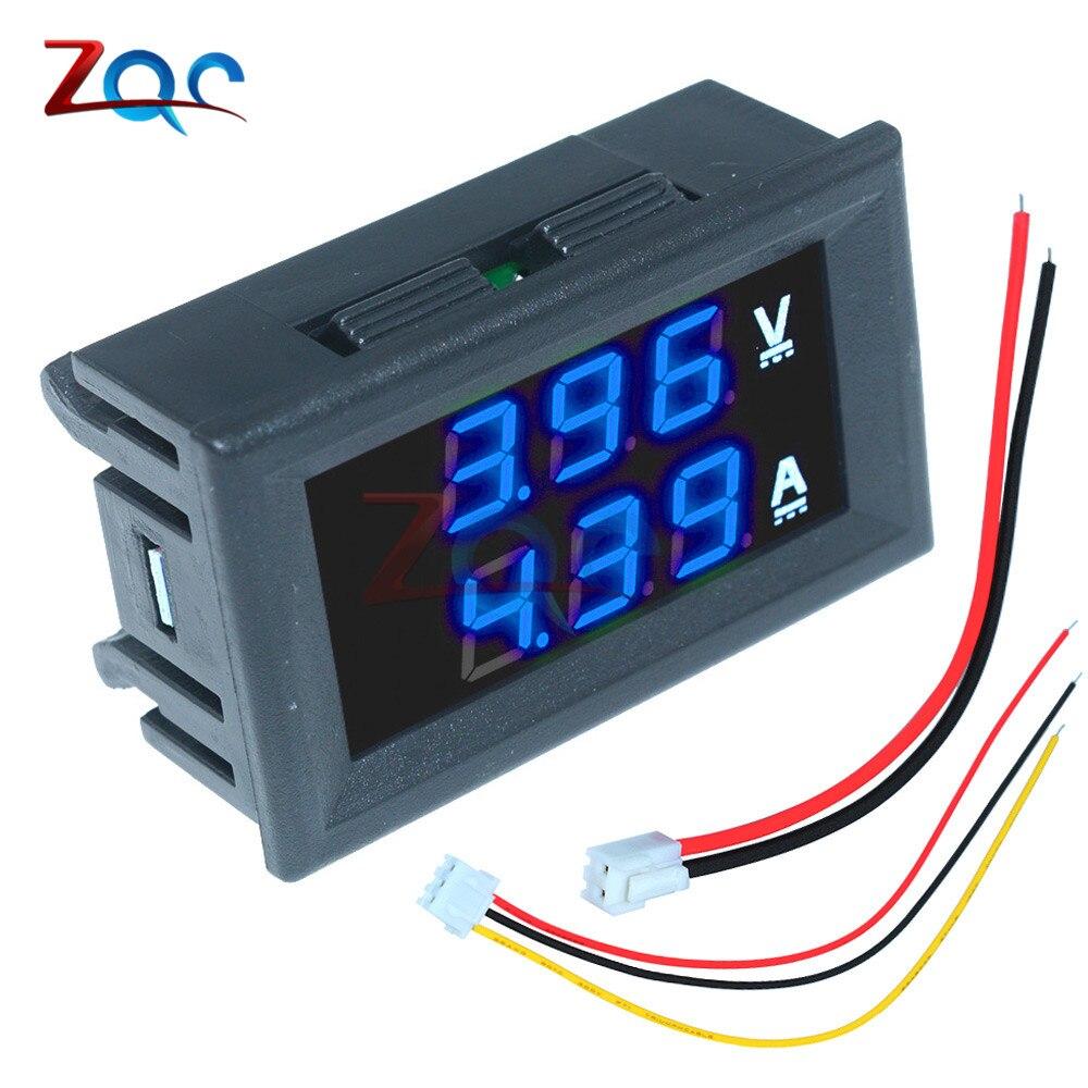 """Mini Digital Voltmeter Ammeter DC 100V 10A Panel Amp Volt Voltage Current Meter Tester Detector 0.56"""" Dual LED Display Auto Car"""