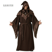 DJGRSTER Halloween Costumes Adult Mens Gothic Wizard Costume European Religious Men Priest Uniform Fancy Cosplay Costumes