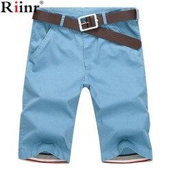 Riinr 2017 summer new mens casual shorts cotton slim mid beach short joggers trousers bermuda masculina.jpg 250x250