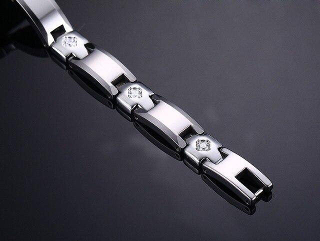 Фото женский браслет из чистого вольфрама магнитный 3 а с кубическим цена