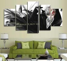 Bleach Ichigo Kurosaki 5 Pieces Paintings Canvas Poster
