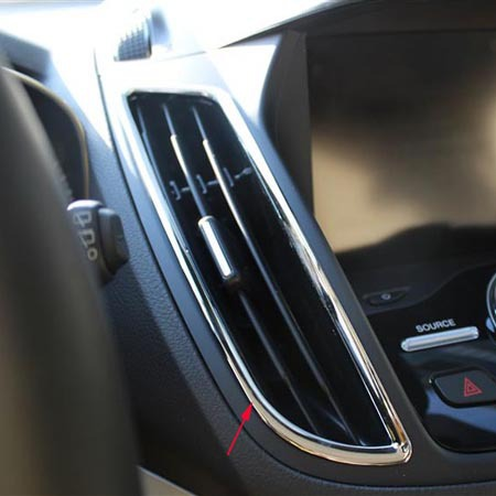For Ford Escape Kuga 2013 Chrome Interior Decoration Trim Ring Dash Board Covers Air