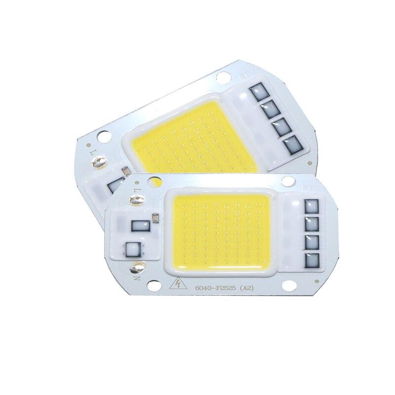 Puce intelligente Haute Puissance LED Matrice Pour Projecteurs 20W 30W 50W 110V 220V bricolage Lumière D'inondation COB diode LED Projecteur Extérieur Lampe De Puce