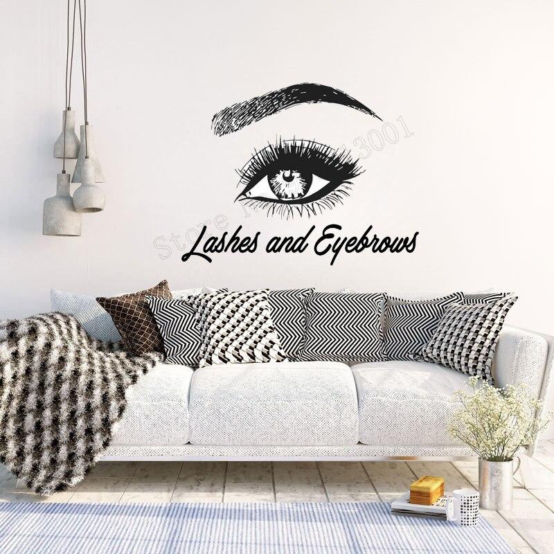 Artwork For The Bedroom Bedroom Extension Ideas Bedroom Wall Ideas Duck Egg Blue Bedroom Inspiration: Art Salon Sticker Eye Eyelashes Lashes Extensions Eyebrows