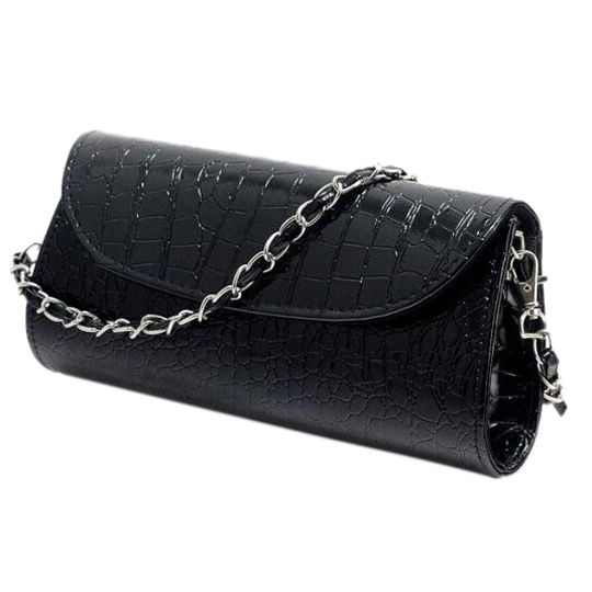 TEXU Design Crocodile Pattern Chain women bag handbag cluth faux Leather Evening Clutches party Shoulder Bag bolsas 2018 yuanyu 2016 new women crocodile bag women clutches leather bag female crocodile grain long hand bag