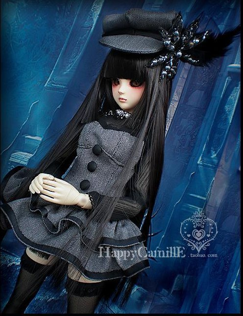 1/4 1/3 scale BJD doll clothing Hooded dress+hat set for BJD SD MSD accessory.Not included doll,shoes,wig and other 17C3417 1 3rd scale 65cm bjd nude doll bazael bjd sd doll boy with face up not included clothes wig shoes and accessories