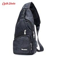 Cloth Shake Camouflage Printing Waterproof Nylon Men Chest Pack Small Sling Messenger Shoulder Bag Casual Rucksack
