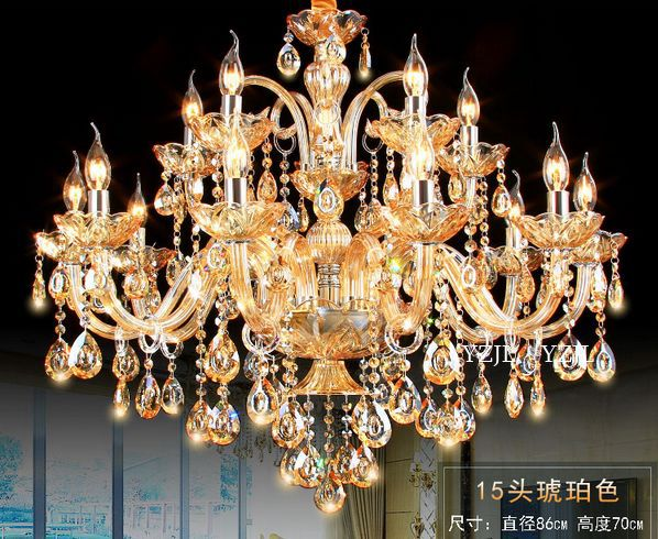 Luxe slaapkamer eetkamer woonkamer lobby kroonluchter kristallen - Binnenverlichting