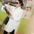 Women Blouses White Tops 2016 Woman Clothes  long sleeve shirt casual blusas feminino vetement femme Plus Size 4XL XXXXL