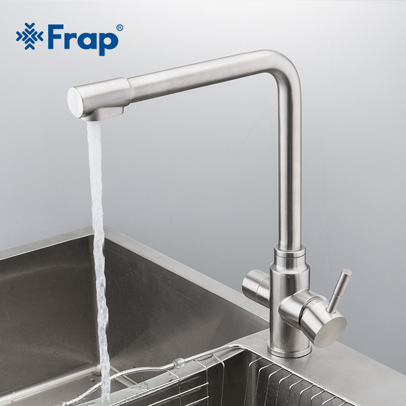 Frap novo waterfilter torneiras torneiras de cozinha misturador de aço inoxidável filtro de água potável torneira da pia Da Cozinha torneira de Água da torneira Y40036