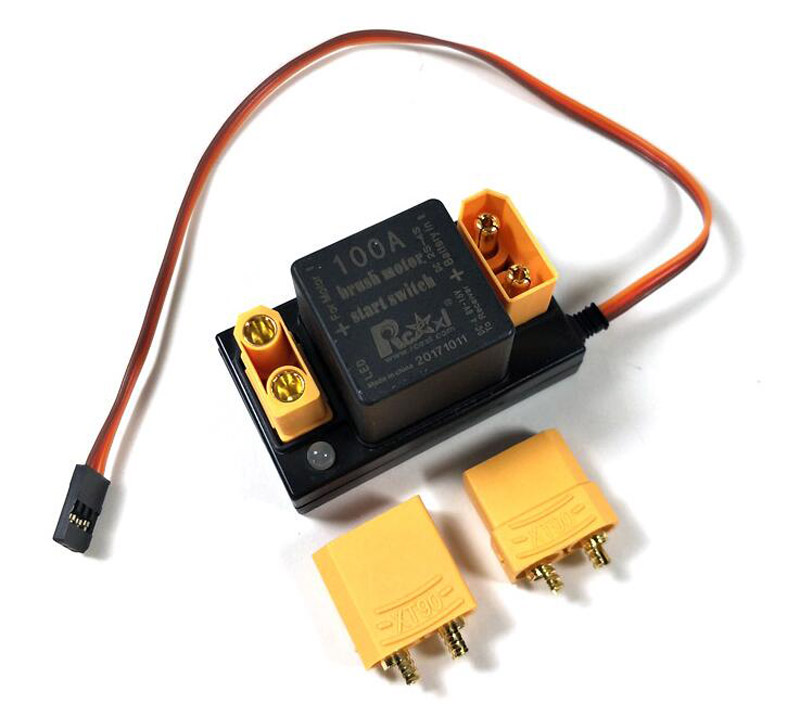 RC Model RCEXL Brushed Motor 100A Electronic Switch with EC3 Plug 7.2V-15V Brush Motor Start Switch for Flight Control Accessory rc aircraft eme electric start remote control switch rcexl brush motor electronic switch 100a for rc model airplane spare parts