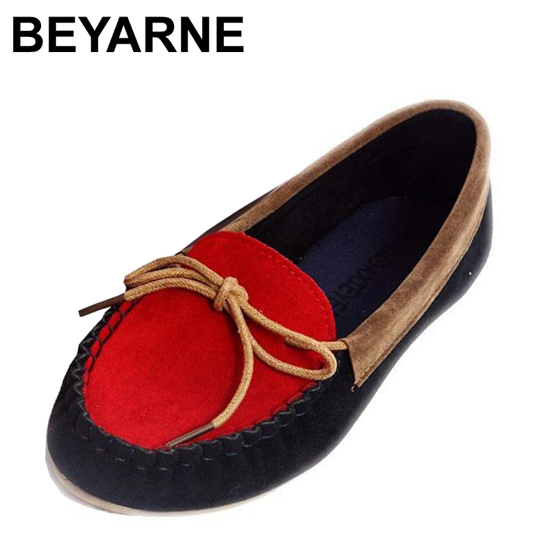 BEYARNE spring boat shoes flat heel round toe shoes gommini loafers sweet flat four seasons shoes shallow mouth women's shoes new arrival shallow mouth round toe women flat shoes sweet lady girls bowtie metal slip on shoes cute boat shoes plus size 35 41