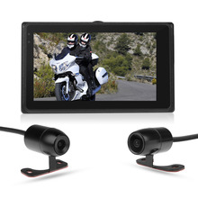 M1-Wifi motorcycle DVR wifi video recorder waterproof dual lens front and rear view camera dash cam camcorder G-Sensor