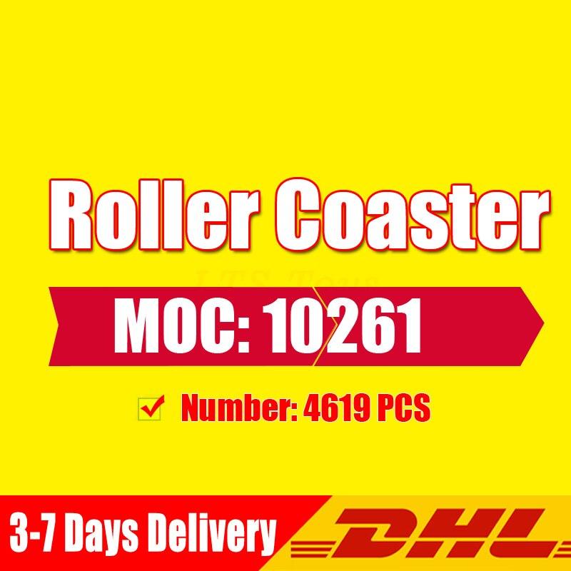DHL Fille Aire de Jeux Roller Coaster Ensemble Buidling Blocs Briques Enfant Jouets Compatible Avec légèreté 10261 Jouet Cadeau modèle