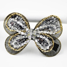 Beads and paillettes yarn bowknot Barrettes hair clips claw for women and girls