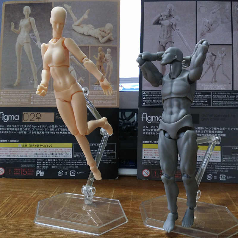 Free Freight Shfiguarts Body Kun / Body Chan Body-chan Body-kun Grey Color Ver. Black Pvc Action Figure Collectible Model Toy