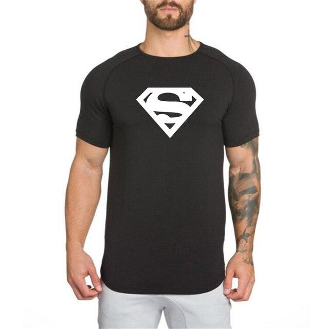 Superman 2018 Verão Homens T-Shirt de Algodão de Manga Curta Roupas de  Fitness Musculação 18b372ee9f0