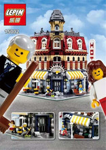 2016 New 2133Pcs LEPIN 15002 Creators Cafe Corner Model Building Kits figures Blocks Kid Toy Gift brinquedos