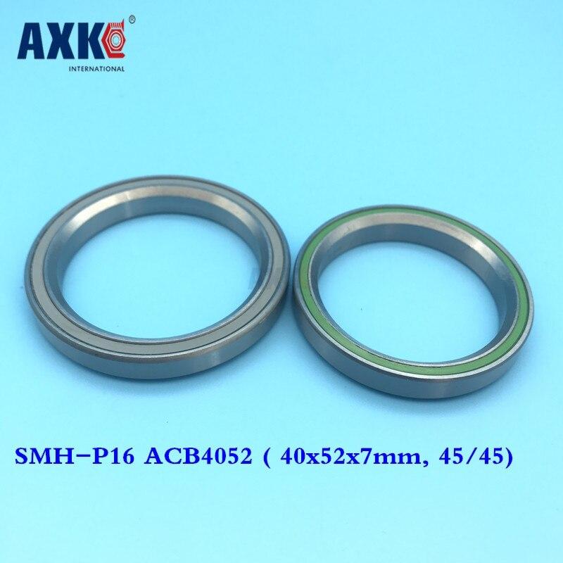 1-1/2 1.5 38.1mm bicycle headset bearing SMH-P16 ACB4052 ( 40x52x7mm, 45/45) repair bearing stainless steel bearing SUS440C bicycle wheel bearing repair parts 16287 2rs 61902 16 2rs 16 28 7 mm