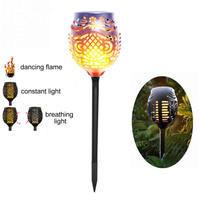 Solar 96LEDs Lawn Dancing flame Torch Lights radar 3 working mode 1/2/4 PCS Solar lights Tor to Landscape Garden Lamp Torch Li